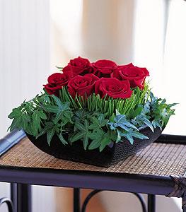 Aydın incir çiçek çiçek siparişi sitesi  10 adet kare mika yada cam vazoda gül tanzim