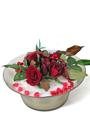 Aydın incir çiçek çiçek siparişi vermek  EN ÇOK Sevenlere 7 adet kirmizi gül mika yada cam tanzim