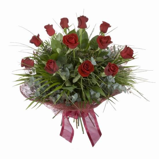 Etkileyici buket 11 adet kirmizi gül buketi  Aydın incir çiçek internetten çiçek satışı