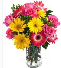 Vazoda Karışık mevsim çiçeği  Aydın incir çiçek çiçekçi mağazası
