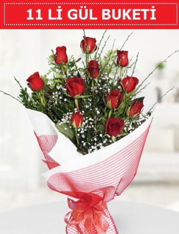 11 adet kırmızı gül buketi Aşk budur  Aydın incir çiçek çiçek gönderme sitemiz güvenlidir