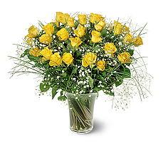 Aydın incir çiçek çiçek siparişi sitesi  15 adet sarigül mika yada cam vazoda