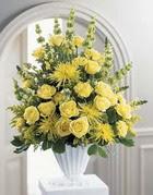 Aydın incir çiçek çiçek siparişi sitesi  sari güllerden sebboy tanzim çiçek siparisi