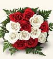 Aydın incir çiçek çiçek , çiçekçi , çiçekçilik  10 adet kirmizi beyaz güller - anneler günü için ideal seçimdir -