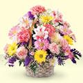 Aydın incir çiçek uluslararası çiçek gönderme  sepet içerisinde gül ve mevsim