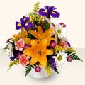 Aydın incir çiçek 14 şubat sevgililer günü çiçek  sepet içinde karisik çiçekler