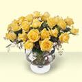 Aydın incir çiçek çiçekçi telefonları  11 adet sari gül cam yada mika vazo içinde