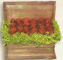 yapay güllerden sandik   Aydın incir çiçek cicek , cicekci