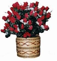 yapay kirmizi güller sepeti   Aydın incir çiçek kaliteli taze ve ucuz çiçekler
