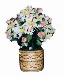 yapay karisik çiçek sepeti   Aydın incir çiçek çiçek servisi , çiçekçi adresleri