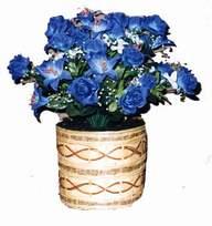 yapay mavi çiçek sepeti  Aydın incir çiçek cicekciler , cicek siparisi