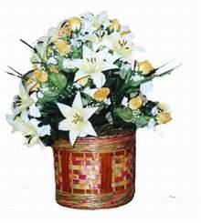 yapay karisik çiçek sepeti   Aydın incir çiçek cicekciler , cicek siparisi