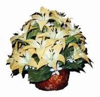 yapay karisik çiçek sepeti   Aydın incir çiçek çiçek siparişi sitesi