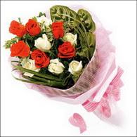 5 kirmizi 5 beyaz güllerden   Aydın incir çiçek online çiçek gönderme sipariş