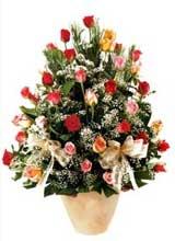 91 adet renkli gül aranjman   Aydın incir çiçek çiçek gönderme sitemiz güvenlidir