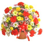 karisik renkli çiçek sepet   Aydın incir çiçek çiçek gönderme sitemiz güvenlidir