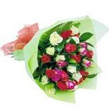 12 adet renkli gül buketi   Aydın incir çiçek çiçek gönderme sitemiz güvenlidir
