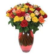 51 adet gül ve kaliteli vazo   Aydın incir çiçek çiçek gönderme sitemiz güvenlidir