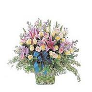sepette kazablanka ve güller   Aydın incir çiçek çiçek gönderme