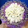71 adet beyaz gül buketi   Aydın incir çiçek çiçek , çiçekçi , çiçekçilik