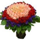 71 adet renkli gül buketi   Aydın incir çiçek ucuz çiçek gönder