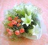 Aydın incir çiçek çiçek yolla  lilyum ve 7 adet gül buket