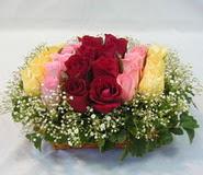 15 adet reprenkli gül sepeti   Aydın incir çiçek çiçek yolla