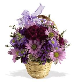 Aydın incir çiçek uluslararası çiçek gönderme  sepet içerisinde krizantem çiçekleri