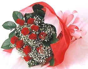12 adet kirmizi gül buketi  Aydın incir çiçek cicek , cicekci