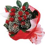 Aydın incir çiçek internetten çiçek satışı  KIRMIZI AMBALAJ BUKETINDE 12 ADET GÜL