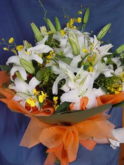 Aydın incir çiçek internetten çiçek satışı  5 ADET KAZABLANKA BUKETI KALITEDEN SASMAYANLARA