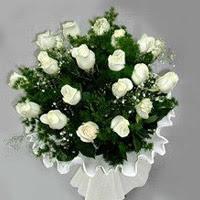 Aydın incir çiçek hediye çiçek yolla  11 adet beyaz gül buketi ve bembeyaz amnbalaj