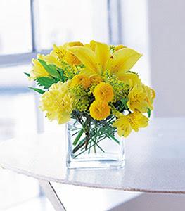 Aydın incir çiçek ucuz çiçek gönder  sarinin sihri cam içinde görsel sade çiçekler