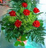 6 adet kirmizi gül buketi   Aydın incir çiçek online çiçek gönderme sipariş