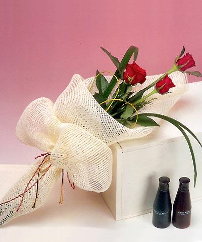 3 adet kalite gül sade ve sik halde bir tanzim  Aydın incir çiçek internetten çiçek siparişi