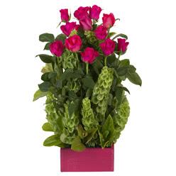 12 adet kirmizi gül aranjmani  Aydın incir çiçek çiçek mağazası , çiçekçi adresleri