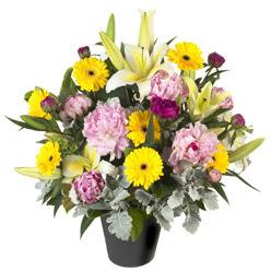 karisik mevsim çiçeklerinden vazo tanzimi  Aydın incir çiçek uluslararası çiçek gönderme