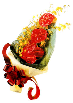 özel 5 adet antorium buketi   Aydın incir çiçek çiçek gönderme sitemiz güvenlidir