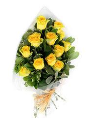 Aydın incir çiçek güvenli kaliteli hızlı çiçek  12 li sari gül buketi.