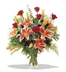 Aydın incir çiçek çiçek servisi , çiçekçi adresleri  Pembe Lilyum ve Gül