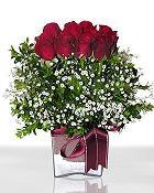 Aydın incir çiçek çiçek , çiçekçi , çiçekçilik  11 adet gül mika yada cam - anneler günü seçimi -