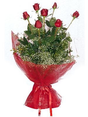 Aydın incir çiçek çiçek servisi , çiçekçi adresleri  7 adet gülden buket görsel sik sadelik