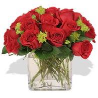 Aydın incir çiçek çiçekçi telefonları  10 adet kirmizi gül ve cam yada mika vazo