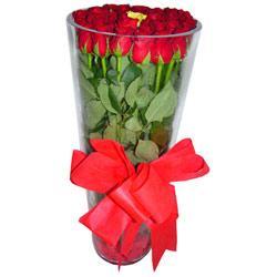 Aydın incir çiçek çiçek online çiçek siparişi  12 adet kirmizi gül cam yada mika vazo tanzim