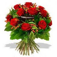 9 adet kirmizi gül ve kir çiçekleri  Aydın incir çiçek internetten çiçek satışı