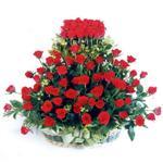Aydın incir çiçek kaliteli taze ve ucuz çiçekler  41 adet kirmizi gülden sepet tanzimi