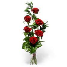 Aydın incir çiçek uluslararası çiçek gönderme  mika yada cam vazoda 6 adet essiz gül
