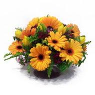 gerbera ve kir çiçek masa aranjmani  Aydın incir çiçek çiçek siparişi vermek