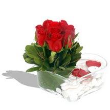 Mika kalp içerisinde 9 adet kirmizi gül  Aydın incir çiçek çiçek servisi , çiçekçi adresleri