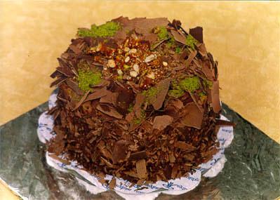 Çikolatali 4 ila 6 kisilik yas pasta  Aydın incir çiçek çiçek gönderme sitemiz güvenlidir